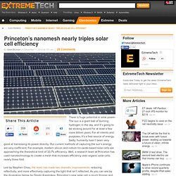 Princeton's nanomesh nearly triples solar cell efficiency