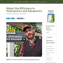 Water Use Efficiency in Hydroponics and Aquaponics