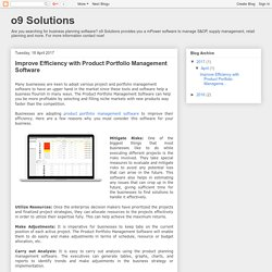 o9 Solutions: Improve Efficiency with Product Portfolio Management Software