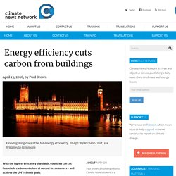 Energy efficiency cuts carbon from buildings