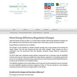 More Energy Efficiency Regulation Changes
