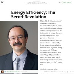 Energy Efficiency: The Secret Revolution — Solutions Journal Summer 2014