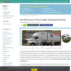 The Efficiency of the Freight Shipping Industry