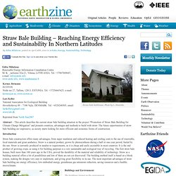 Straw Bale Building – Reaching Energy Efficiency and Sustainability in Northern Latitudes | Earthzine
