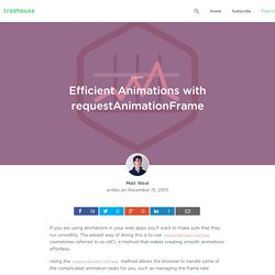 Efficient Animations with requestAnimationFrame