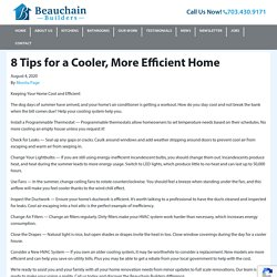 8 Tips for a Cooler, More Efficient Home - Beauchain Builders