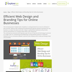 Efficient Web Design and Branding Tips for Online Businesses