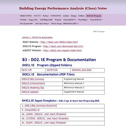 Energy Efficient Building Design - DOE2.1E Program
