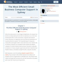The Most Efficient Small Business Computer Support In Sydney