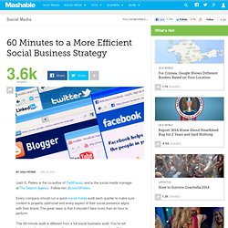 60 Minutes to a More Efficient Social Business Strategy