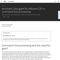 Use gperf for efficient C/C++ command line processing