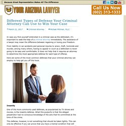 Different Types of Defense Your Criminal Attorney Can Use to Win Your Case