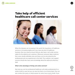 Take help of efficient healthcare call center services