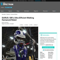 DURUS: SRI's Ultra-Efficient Walking Humanoid Robot
