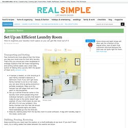 Set Up an Efficient Laundry Room