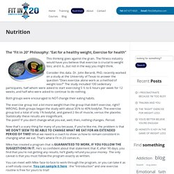 GTA fitness training -Diet Plan in Mississauga