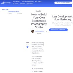 How to Build Your Own Efficient Ecommerce Photography Studio