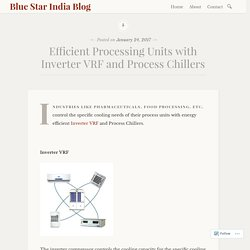 Efficient Processing Units with Inverter VRF and Process Chillers