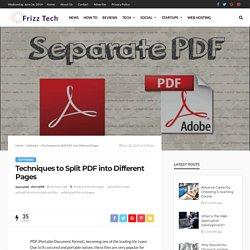 Efficient techniques to Split PDF Into Different Pages