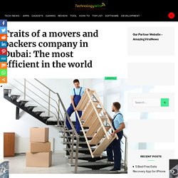 Traits of a movers and packers company in Dubai: The most efficient in the world - TechnologyWire