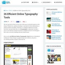 26 Efficient Online Typography Tools