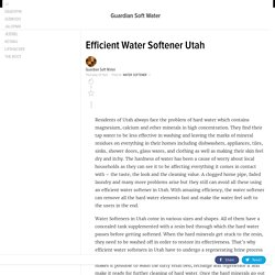Efficient Water Softener in Utah