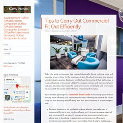 Tips to Carry Out Commercial Fit Out Efficiently