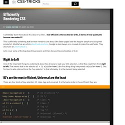 Efficiently Rendering CSS