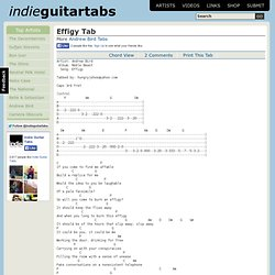 Effigy Tab by Andrew Bird