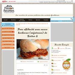 Porc effiloché avec sauce barbecue (mijoteuse) de Esther B