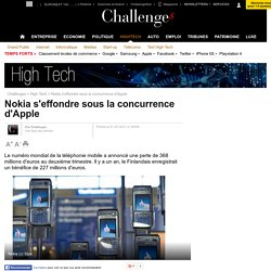 Nokia s'effondre sous la concurrence d'Apple