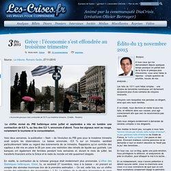 » Grèce : l'économie s'est effondrée au troisième trimestre