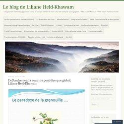 L'effondrement à venir ne peut être que global. Liliane Held-Khawam – Le blog de Liliane Held-Khawam