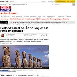 L'effondrement de l'Île de Pâques est remis en question