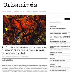 L'effondrement de la ville ou l'humanité en crise dans Ravage de Barjavel (1943)