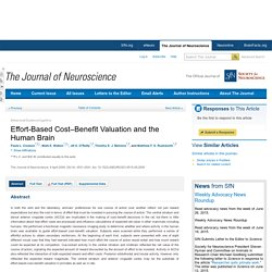 Effort-Based Cost–Benefit Valuation and the Human Brain