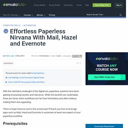 Effortless Paperless Nirvana With Mail, Hazel and Evernote