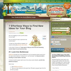 7 Effortless Ways to Find New Ideas for Your Blog