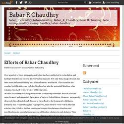 Efforts of Babar Chaudhry - Babar R Chaudhry