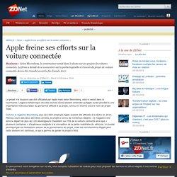 Apple freine ses efforts sur la voiture connectée - ZDNet