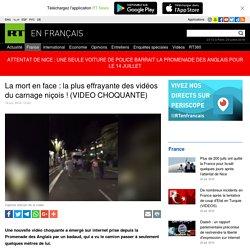 L'arrivée du camion filmée de face sur la promenade des Anglais à Nice (VIDEO CHOQUANTE)