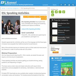 ESL Speaking Activities
