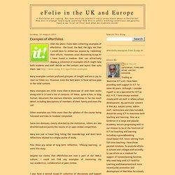 Examples of ePortfolios