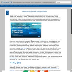 Eforcers S.A.: Diseño Web Avanzado con Google Sites