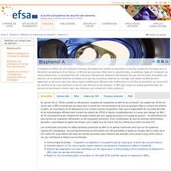 EFSA Dossier: Bisphénol A