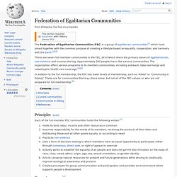 Federation of Egalitarian Communities