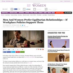 Men And Women Prefer Egalitarian Relationships