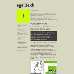 Site: egalite.ch : L'école de l'égalité - tous les âges