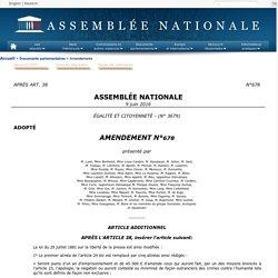 ÉGALITÉ ET CITOYENNETÉ(no 3679) - Amendement no 678