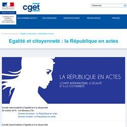 Egalité et citoyenneté : la République en actes